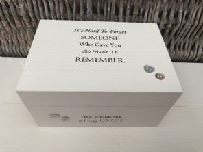 Personalised In Memory Of A Loved One ~ Box ~ UNCLE ~ any Name Bereavement Loss - 232737769485